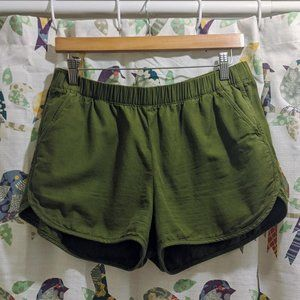 Madewell Pull On Shorts in Olive